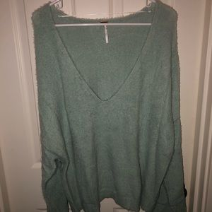 Free People Seafoam Forever Cashmere Sweater!!